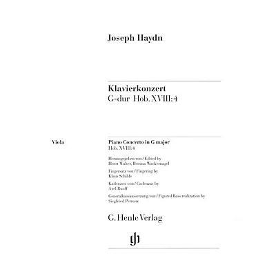G. Henle Verlag Concerto for Piano (Harpsichord) and Orchestra G Major Hob.XVIII:4 Henle Music by Joseph Haydn