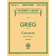 G. Schirmer Concerto for Piano In A Minor Op 16, 2 Piano 4 Hands 2 By Grieg