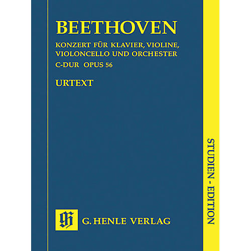 G. Henle Verlag Concerto for Piano, Violin, Violoncello, and Orchestra C Major Op. 56 Henle Study Scores by Beethoven