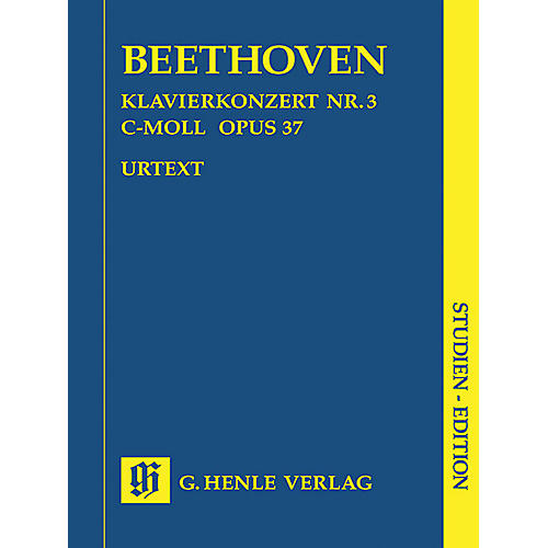 G. Henle Verlag Concerto for Piano and Orchestra C minor Op. 37, No. 3 (Study Score) Henle Study Scores Series Softcover