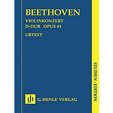 G. Henle Verlag Concerto for Violin in D Major Op. 61 (Study Score) Henle Study Scores Series Softcover