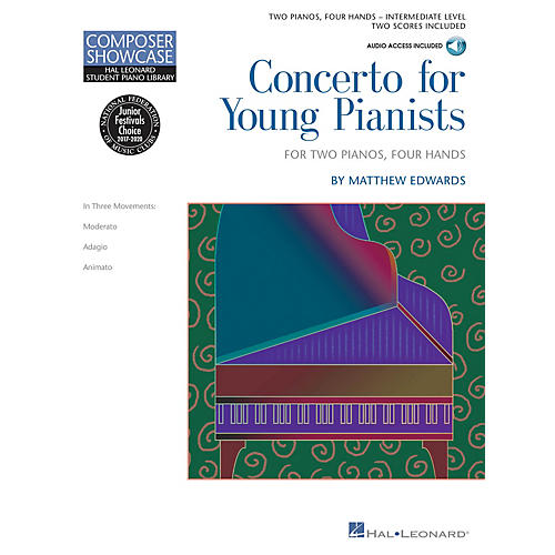 Hal Leonard Concerto for Young Pianists Piano Library Series Book Audio Online by Matthew Edwards (Level Inter)