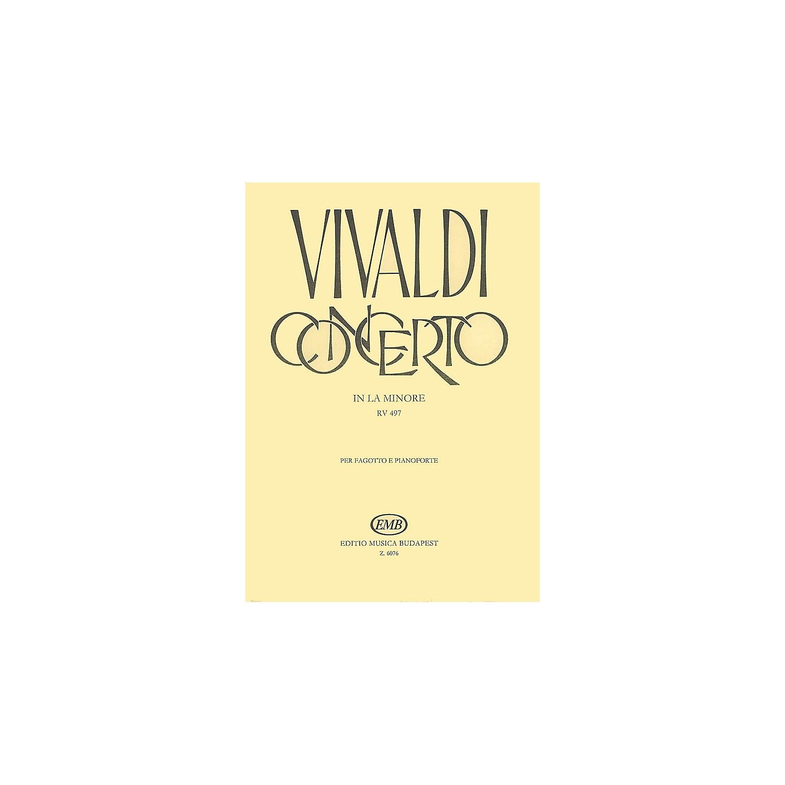 Editio Musica Budapest Concerto in A Minor for Bassoon, Strings and Continuo, RV497 EMB Series by Antonio Vivaldi