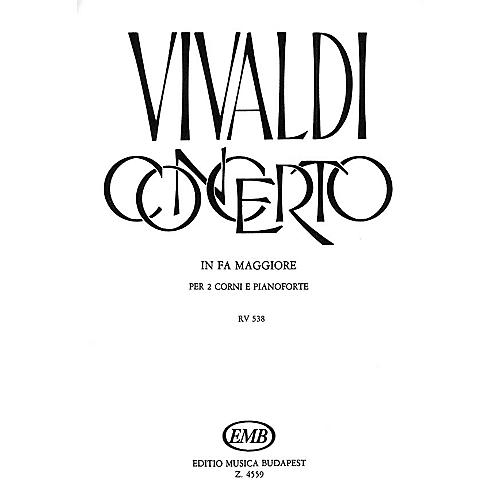 Editio Musica Budapest Concerto in F for 2 Horns, Strings, Continuo, RV 538 EMB Series by Antonio Vivaldi