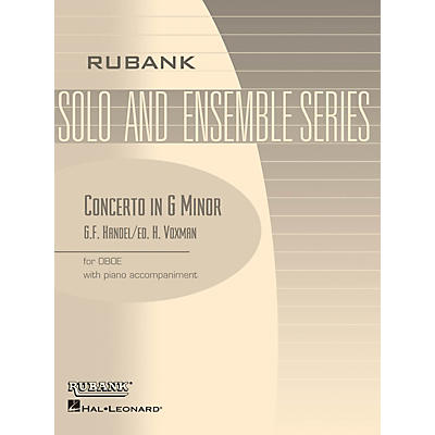 Rubank Publications Concerto in G Min (Oboe Solo with Piano - Grade 4) Rubank Solo/Ensemble Sheet Series