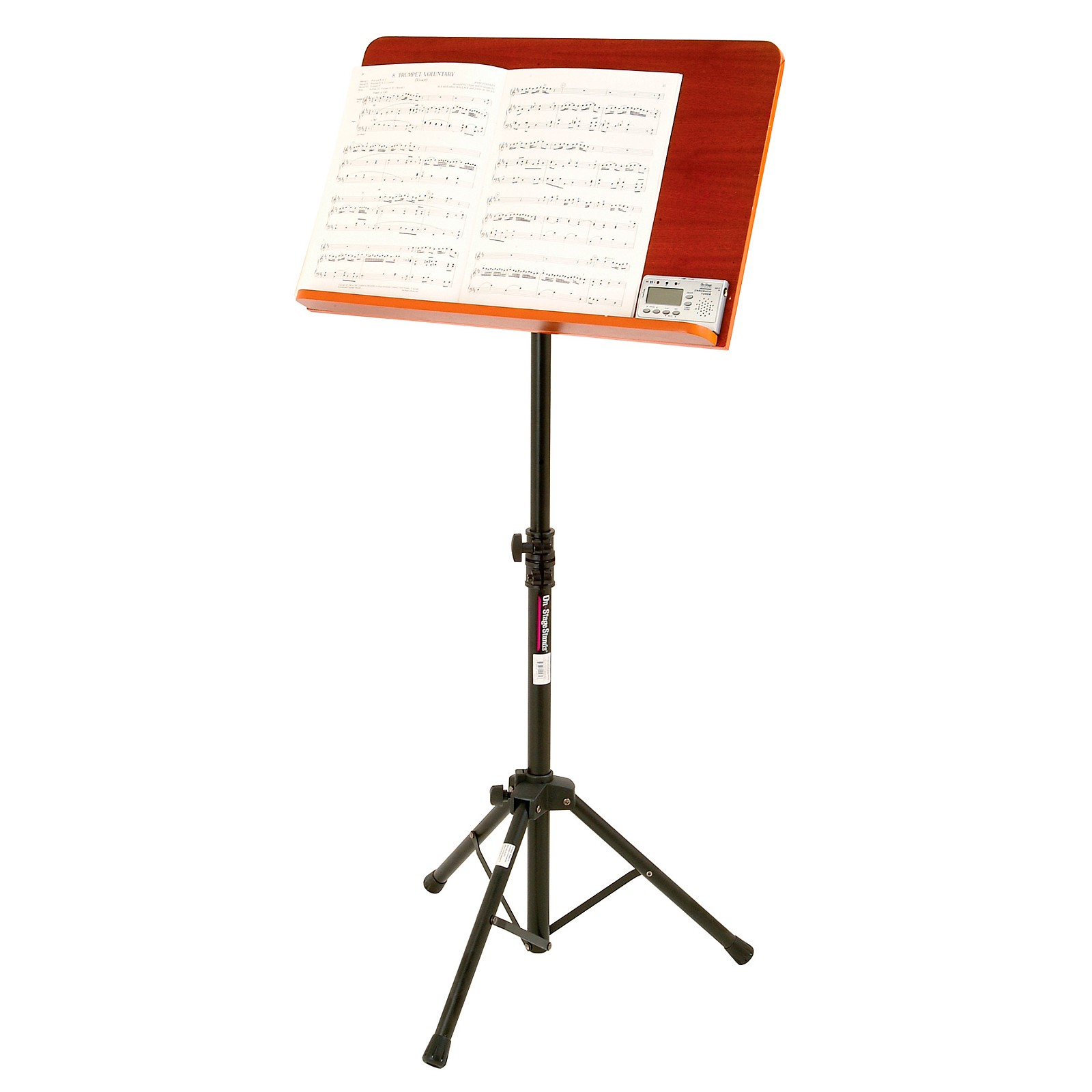 On-Stage Conductor Stand with Wide Wooden Bookplate