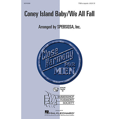 Hal Leonard Coney Island Baby/We All Fall TTBB A Cappella arranged by SPEBSQSA, Inc.