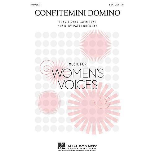 Hal Leonard Confitemini Domino SSA composed by Patti Drennan