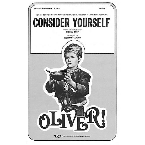 TRO ESSEX Music Group Consider Yourself (from Oliver) SA Arranged by Norman Leyden
