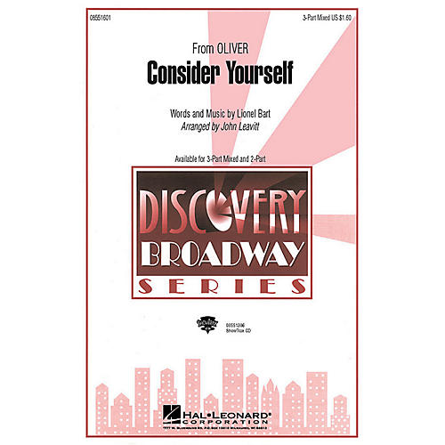 Hal Leonard Consider Yourself (from Oliver) (SATB) 3-Part Mixed arranged by John Leavitt