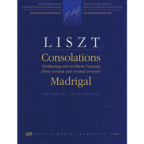 Editio Musica Budapest Consolations (First Version and Revised Version) and Madrigal EMB Series Softcover
