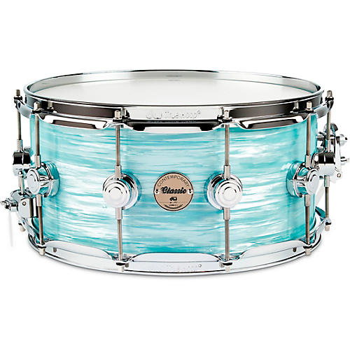 DW Contemporary Classic Finish Ply Snare Drum Nickel Hardware 14 x 6.5 in.