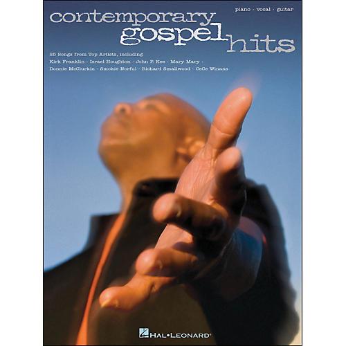 Hal Leonard Contemporary Gospel Hits arranged for piano, vocal, and guitar (P/V/G)