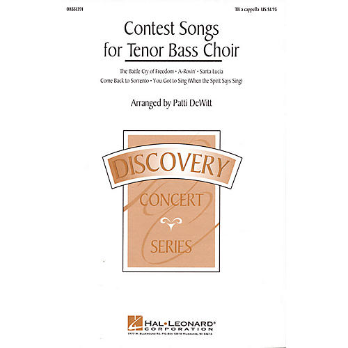 Hal Leonard Contest Songs for Tenor Bass Choir (Collection) TB A Cappella arranged by Patti DeWitt