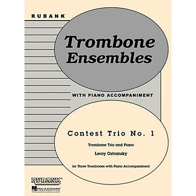 Rubank Publications Contest Trio No. 1 (Trombone Trio with Piano - Grade 3) Rubank Solo/Ensemble Sheet Series