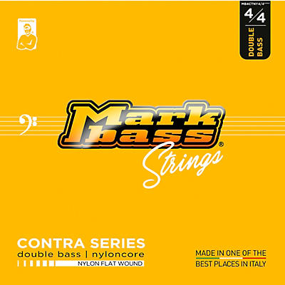 Markbass Contra Series Nylon Flat Wound Nyloncore Double Bass Strings