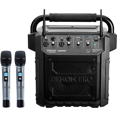 Denon Professional Convoy Portable PA System with Diversity Wireless Mics And Bluetooth Receiver