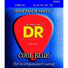 DR Strings Cool Blue Coated 5 STring Bass Medium (45-125)