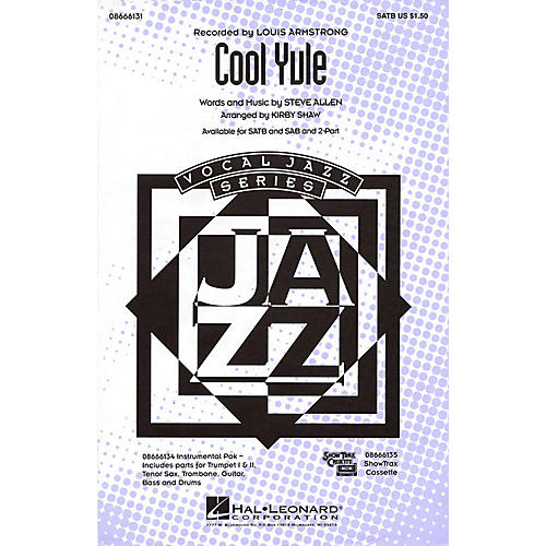 Hal Leonard Cool Yule SAB by Louis Armstrong Arranged by Kirby Shaw