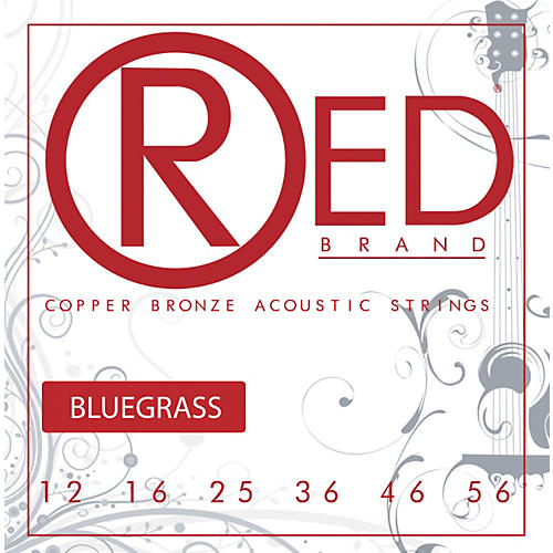 Red Strings Copper Bronze Acoustic Guitar Strings Bluegrass
