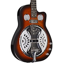 Copper Mountain Roundneck Double Pickup Acoustic-Electric Resonator Guitar Amber Burst