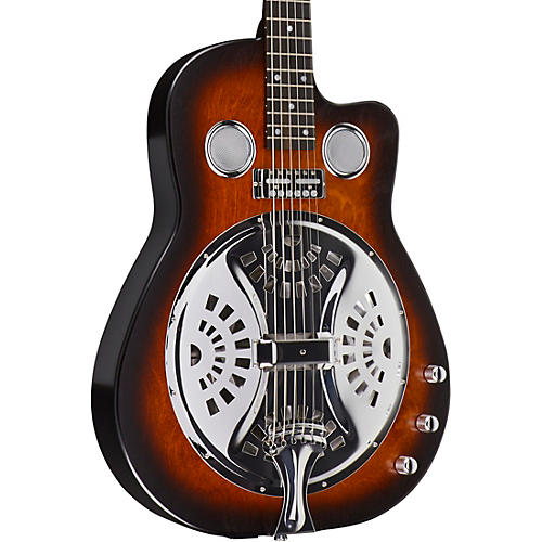 beard guitars copper mountain roundneck double pickup acoustic electric resonator guitar amber. Black Bedroom Furniture Sets. Home Design Ideas