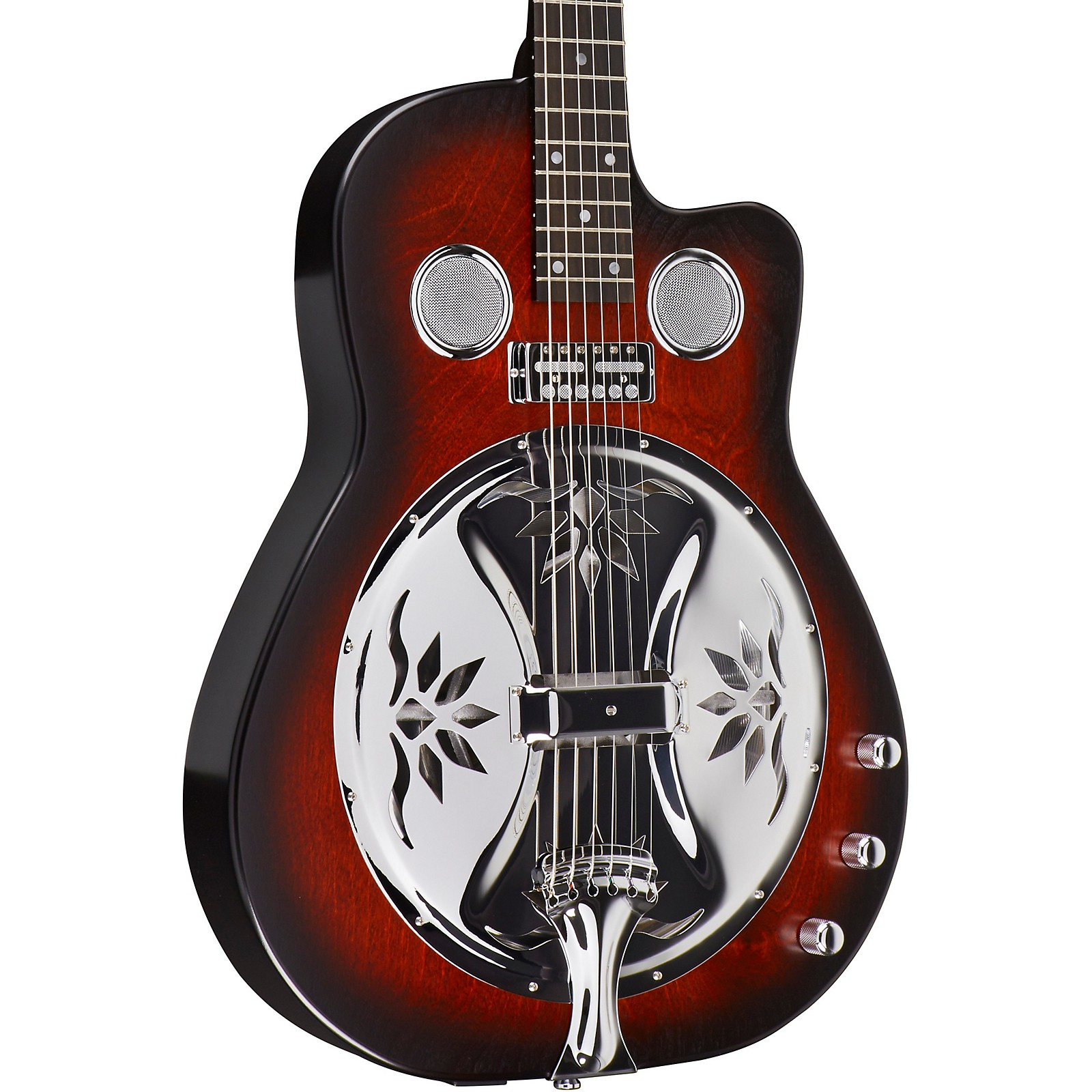 Beard Guitars Copper Mountain Roundneck Double Pickup Acoustic-Electric Resonator Guitar
