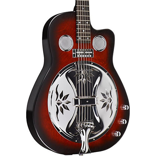 beard guitars copper mountain roundneck double pickup acoustic electric resonator guitar scarlet. Black Bedroom Furniture Sets. Home Design Ideas