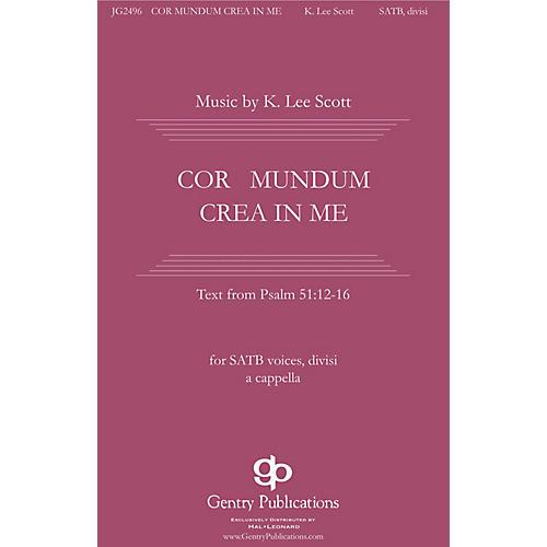 Gentry Publications Cor Mundum Crea In Me SSAATTBB A Cappella composed by K. Lee Scott