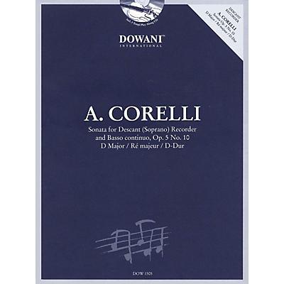 Dowani Editions Corelli: Sonata for Descant (Soprano) Recorder & Basso Continuo Op. 5, No. 10 D Major Dowani Book/CD