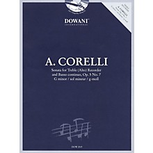 Dowani Editions Corelli: Sonata for Treble (Alto) Recorder & Basso Continuo Op. 5, No. 7 G Minor Dowani Book/CD