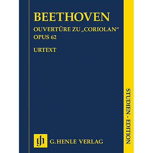 G. Henle Verlag Coriolan Overture, Op. 62 Henle Study Scores by Beethoven Edited by Hans-Werner Küthen