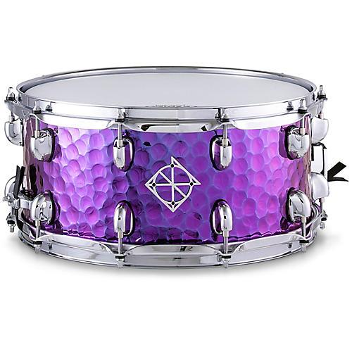 Dixon Cornerstone Purple Titanium Plated Hammered Steel Snare Drum
