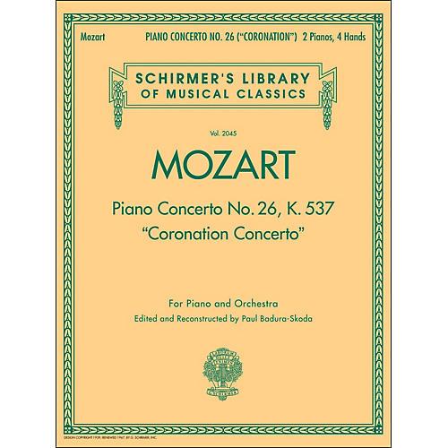 G. Schirmer Coronation Concerto 2 Pno/4Hnd piano Concerto No 26 K537 By Mozart