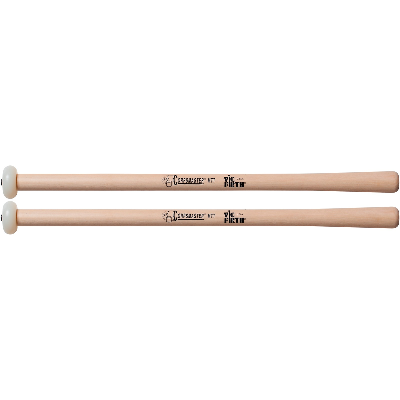Vic Firth Corpsmaster Multi-Tenor Mallets Tapered Hickory Shaft
