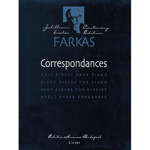 Editio Musica Budapest Correspondances (8 Pieces for Piano Solo) EMB Series
