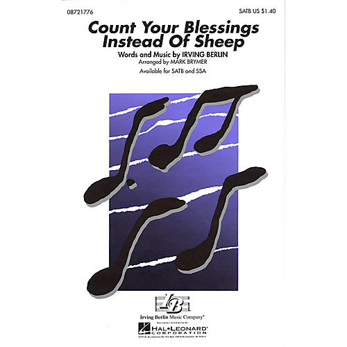 Hal Leonard Count Your Blessings Instead of Sheep SATB arranged by Mark Brymer