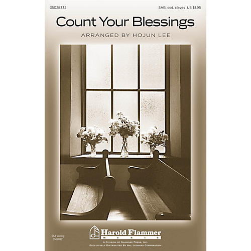 Shawnee Press Count Your Blessings SAB arranged by Hojun Lee