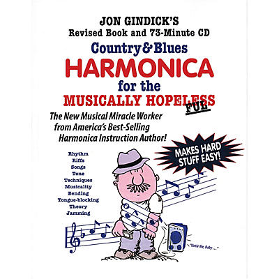 Cross Harp Press Country & Blues Harmonica for the Musically Hopeless Music Sales America Softcover with CD by Jon Gindick