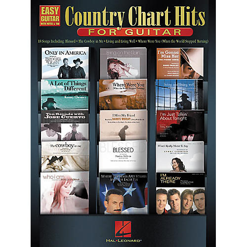 Hal Leonard Country Chart Hits for Guitar Easy Guitar Book