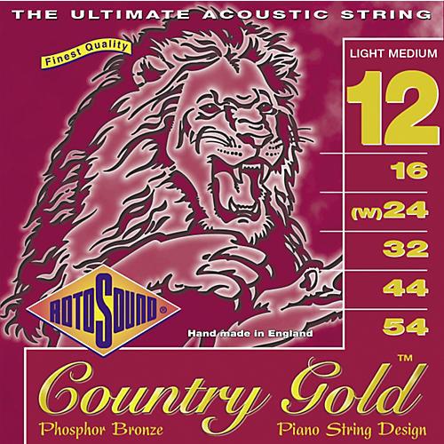 Rotosound Country Gold Light Medium Phosphor Bronze Acoustic Guitar Strings