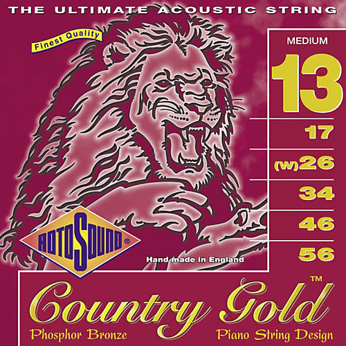 Rotosound Country Gold Medium Phosphor Bronze Acoustic Guitar Strings