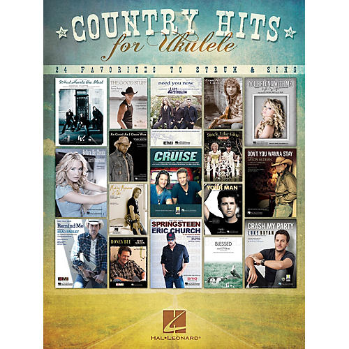 Hal Leonard Country Hits for Ukulele (24 Favorites to Strum & Sing) Ukulele Series Softcover Performed by Various