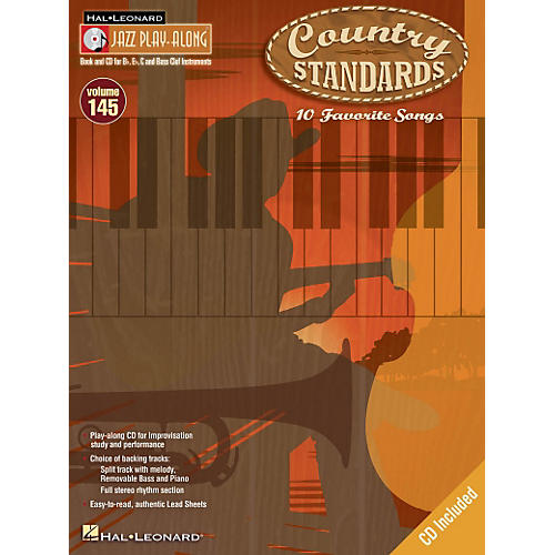 Hal Leonard Country Standards - Jazz Play-Along Volume 145 Book/CD