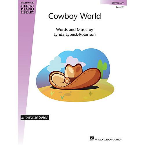 Hal Leonard Cowboy World Piano Library Series by Lynda Lybeck-Robinson (Level Elem)