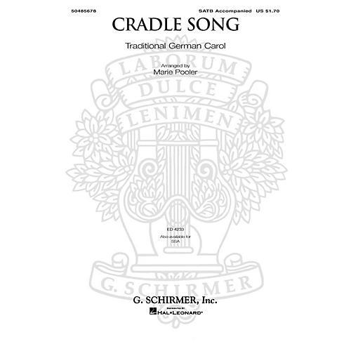 G. Schirmer Cradle Song SATB arranged by Marie Pooler