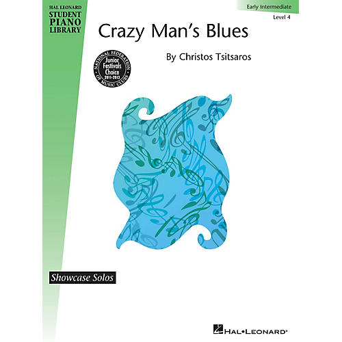 Hal Leonard Crazy Man's Blues Piano Library Series by Christos Tsitsaros (Level Early Inter)