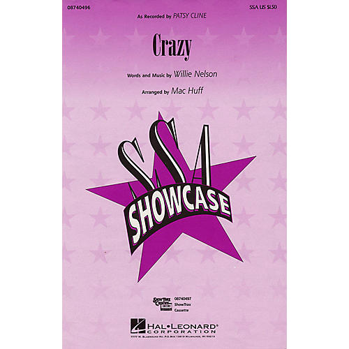 Hal Leonard Crazy SSA by Patsy Cline arranged by Mac Huff