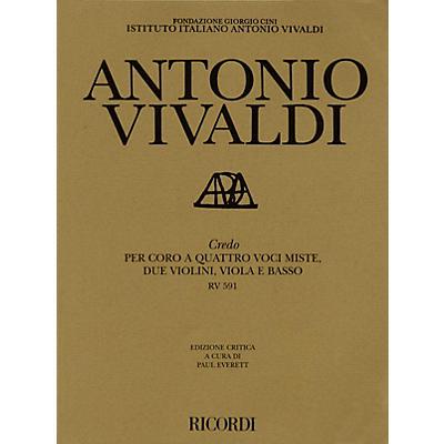 Ricordi Credo RV591 Study Score Series Composed by Antonio Vivaldi Edited by Paul Everett
