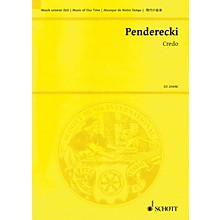 Schott Credo Study Score Series Softcover Composed by Krzysztof Penderecki